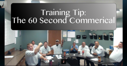 Training Tip- The 60 Second Commercial