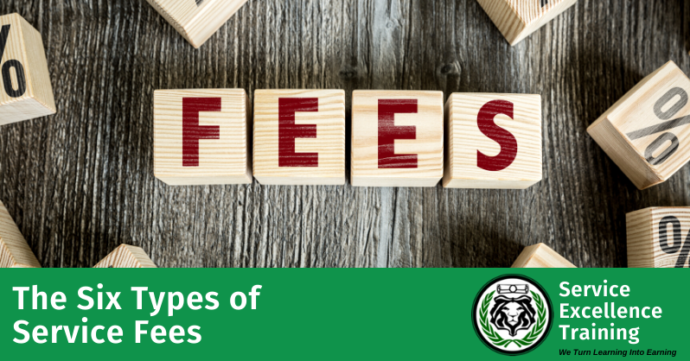six types of service fees